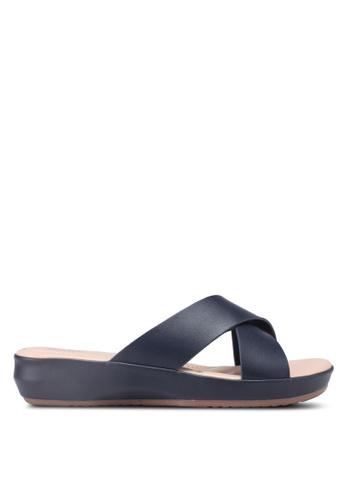 Bata navy Faux Leather Sandals 4C83FSHDAB82D0GS_1