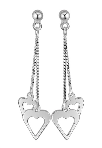 SC Tom Silver silver Double Heart Stud Dangling-ED049 SC872AC05IOCPH_1