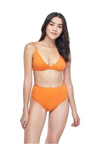 Ozero Swimwear 橘色 CASPIAN橙色三角形比基尼上衣 E0441US7A0CDA8GS_1