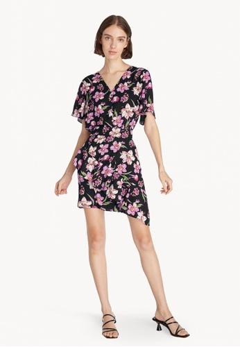 Pomelo black Floral Button Up Bodysuit- Black 49382AA49A7F87GS_1