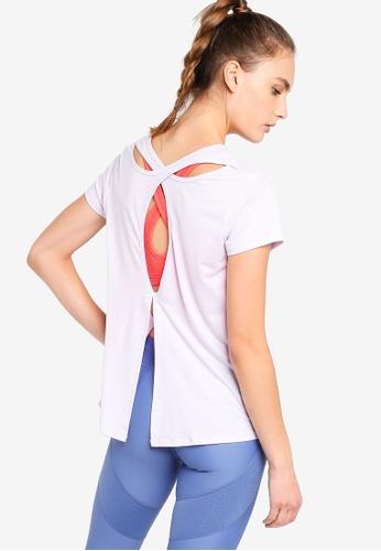 Cotton On Body purple Split Back Hi-Low T-Shirt B3387AABE839D8GS_1