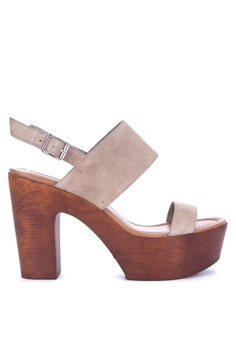 44a8360e940c Steve Madden brown Lucky Suede Solid Tone Heeled Sandals D742FSH1C71B60GS 1