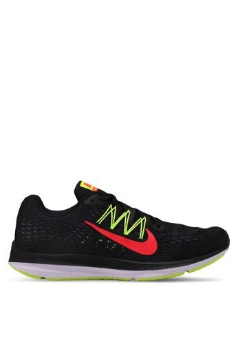 Nike black Nike Air Zoom Winflo 5 Shoes 5E49ASH285A432GS_1