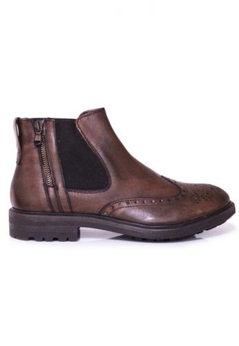 Gino Mariani brown Gino Mariani Men's Leather Shoes FLORENTINO - DK BROWN 901EFSHE90ED49GS_1