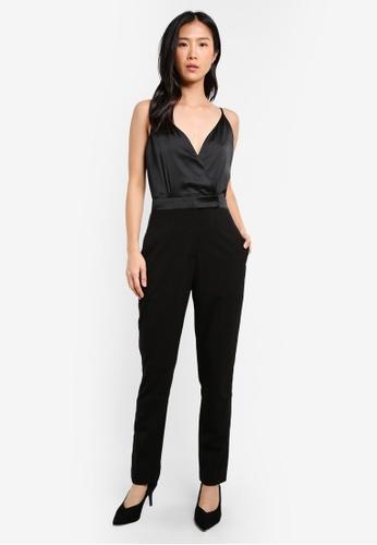 ZALORA black Tuxedo Jumpsuit B11B6AA92FCE65GS_1