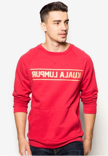 Kl 逆向文字長袖衫,esprit 高雄 服飾, 運動T恤