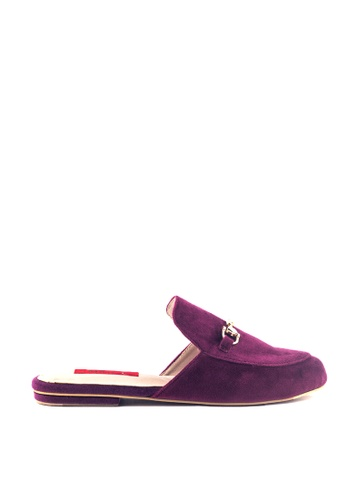 M&G purple Coreen Flats by M&G A5235SHB2CBEA1GS_1