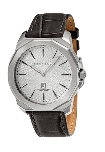 PERRY ELLIS brown Perry Ellis Decagon Men 46mm Quartz Watch 05007-01 CB460AC9E86927GS_1