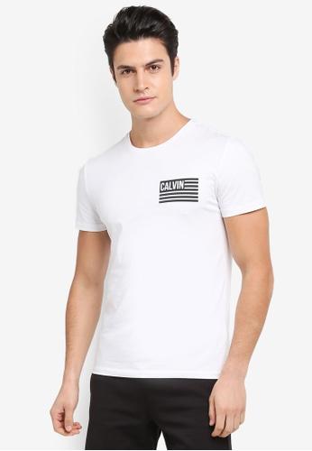 Calvin Klein 白色 Takeos Slim Crew Neck Short Sleeve T-Shirt - Calvin Klein Jeans DA618AA6208FAEGS_1