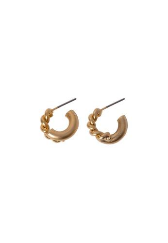 SKEDA gold Felicia Gold Hoop Earrings 29D64AC29E5E70GS_1