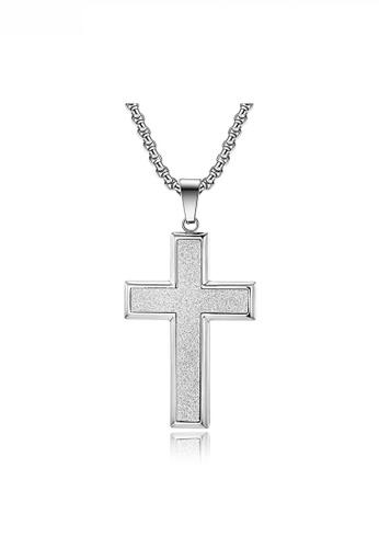 HAPPY FRIDAYS Stylish Bold Cross Necklace JW QF-DZ331 2B318AC088757FGS_1