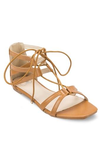 交esprit暢貨中心叉帶繫帶包跟涼鞋, 女鞋, 涼鞋