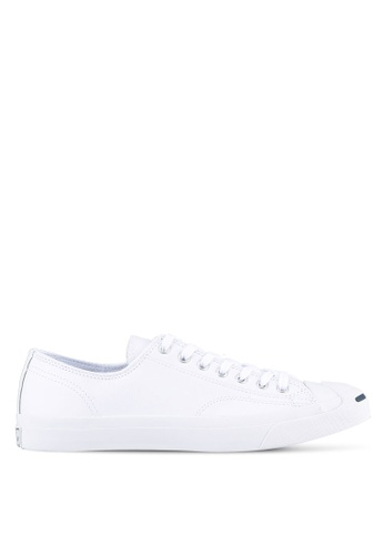 Converse white Jack Purcell Jack Leather Core Ox Sneakers CO302SH0RZYVMY_1