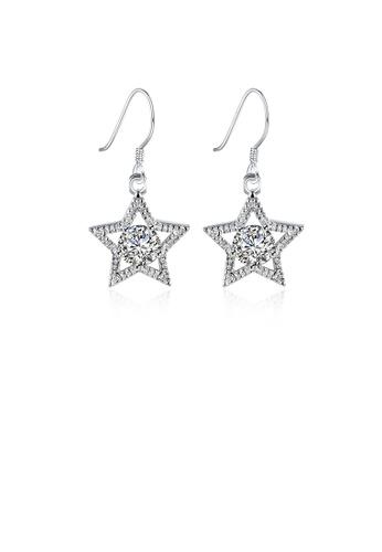 Glamorousky white Simple Bright Star Cubic Zirconia Earrings 843DBAC328F2DEGS_1