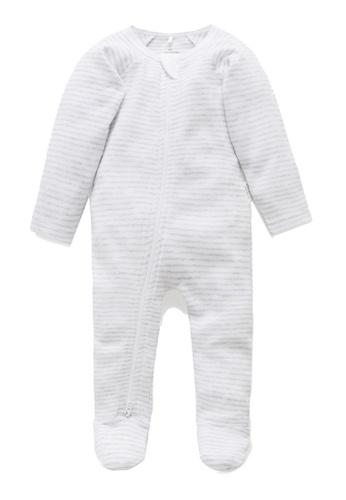 Purebaby grey Zip Growsuit B234CKAAC18E34GS_1