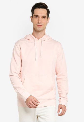 French Connection pink Loopback Terry Hoodie 9B466AAC408CB6GS_1