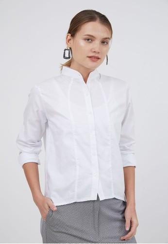 Berrybenka Label white Sophie Mila Asymmetric Tops White A432BAA11B93D9GS_1