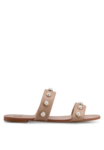 Carlton London beige Embellished Sandals FBCEASH9650E81GS_1