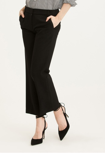 H:CONNECT black Solid Color Straight Slacks EE04BAA9F4D671GS_1