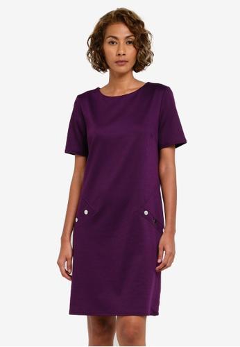 Wallis purple Purple Shift Dress WA800AA0RZHPMY_1