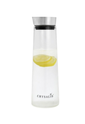 Crysalis n/a Premium Clear Glass Pitcher Stainless Steel Lid 1L 5BFB3HLCFAF400GS_1