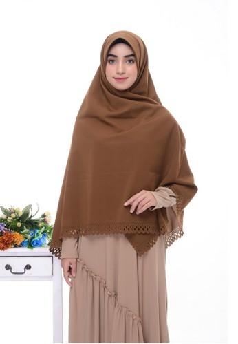 First Hijab brown Kamila Square Hijab In Milk Brown 4F766AA8B47A7EGS_1