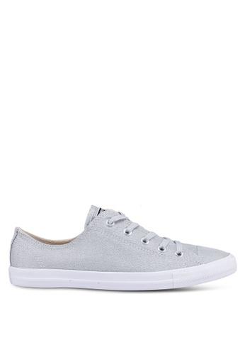 d909db000c5 Converse grey Chuck Taylor All Star Dainty Precious Metals Textile Ox  Sneakers 44680SHC7947C1GS 1