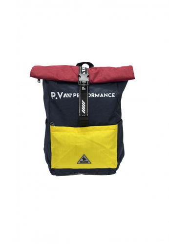 POLOVENZI yellow and blue POLOVENZI BACKPACK 65F6DACE16EBEEGS_1