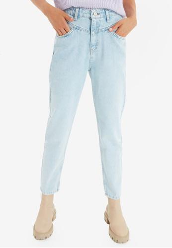 Trendyol blue High Waist Mom Jeans 2CE46AABC241FCGS_1