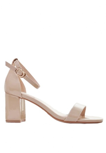 Twenty Eight Shoes 米褐色 漆皮高踭涼鞋5691-3a 62F02SH4D8D1B9GS_1