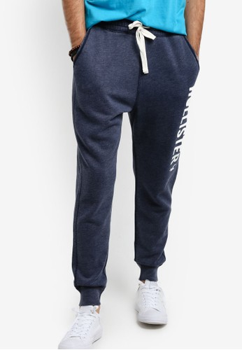 Hollister navy Burnout Jogger Pants HO422AA65GRQMY_1
