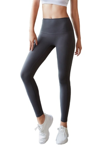 B-Code grey ZYG3034DG-Lady Quick Drying Running Fitness Yoga Sports Leggings -Grey 400EEAA7EFE8AEGS_1