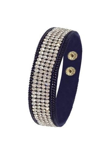 Her Jewellery black Sparkling Bracelet (Dark Blue) E8ED8AC4F89687GS_1