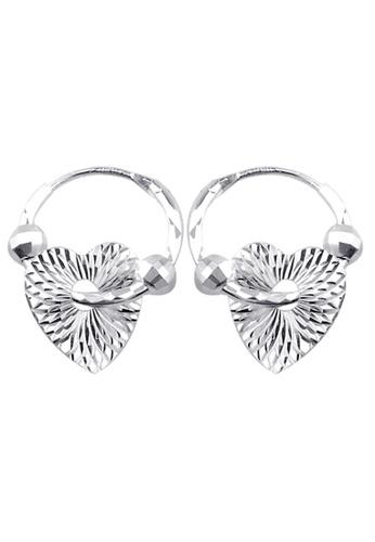 SC Tom Silver silver Heart Loop Earring-EL017S10 SC872AC39HOQPH_1