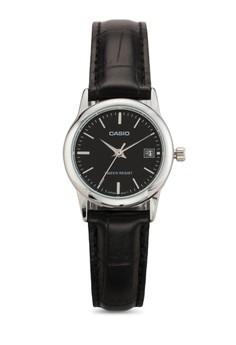Casio LTP-V002L-1AUDF 皮革錶帶不銹鋼手錶