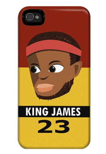 Wonder Cover black and brown and red and yellow and gold King James Matte Hard Case for iPhone 4, 4s WO617AC03AIAPH_1