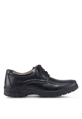 Louis Cuppers 黑色 綁帶牛津鞋 184F5SHEAC91F6GS_1