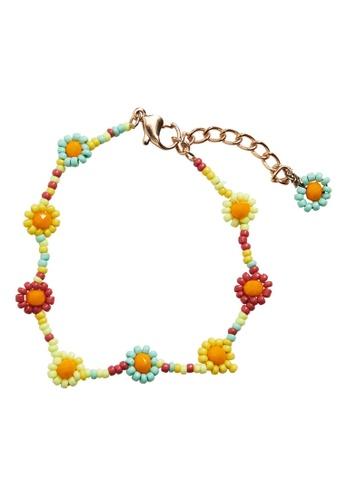 MANGO KIDS orange and multi Flower Beads Bracelet 42492KC00857FEGS_1