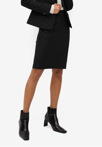 Mango black Cotton Pencil Skirt E0BE1AACE82651GS_1