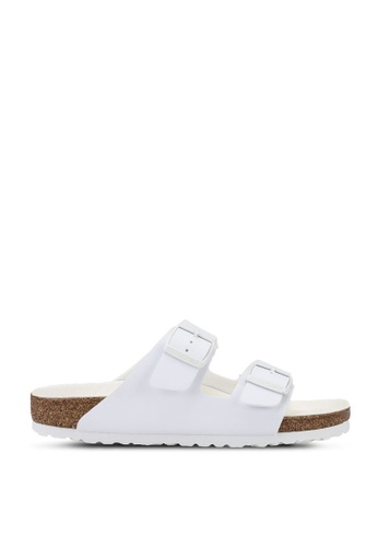 Birkenstock white Arizona Birko-Flor Triple Sandals 5F3D0SH532A49BGS_1
