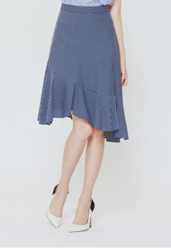 H:CONNECT blue Mermaid Hem Skirt 0A717AA19D3A2EGS_1