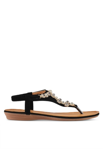 Mimosa black T-Strap Sandals D2C4ESH509BA6EGS_1