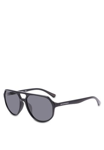 Emporio Armani black Emporio Armani EA4111F Sunglasses EM212GL0SEXTMY_1