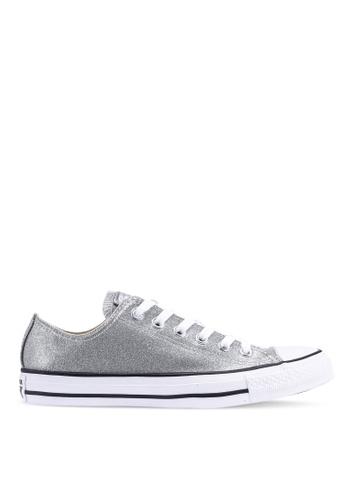 23786b25cddc Converse silver Chuck Taylor All Star Wonderworld Ox Sneakers  78242SH703B4BBGS 1