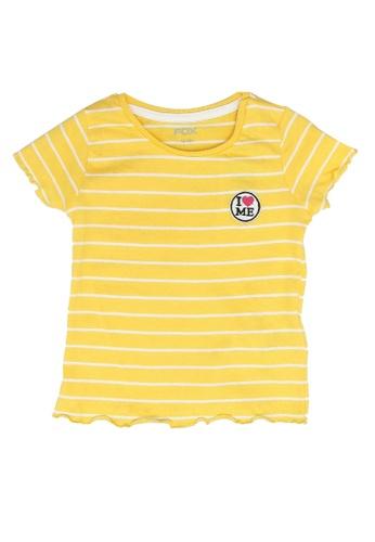 FOX Kids & Baby yellow Baby Girl Short Sleeve Tee 802A6KA59AC027GS_1