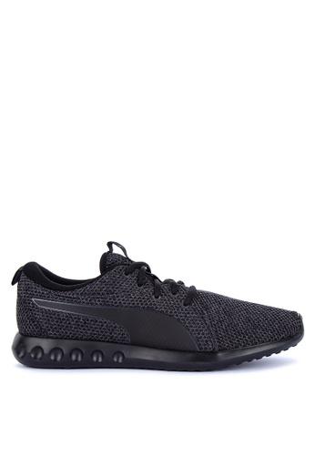 Puma black Carson 2 Nature Knit Training Shoes 4B7D0SHBDB4EF5GS_1
