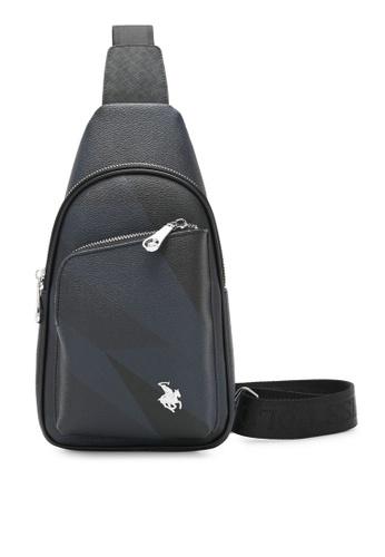 Swiss Polo black Monogram Chest Bag B7C8CAC321DF10GS_1