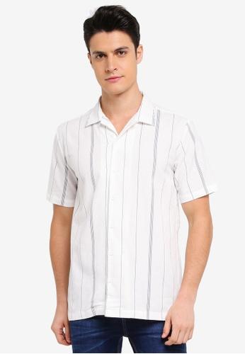 Penshoppe white Cuban Collared Short Sleeve Shirt 36A9BAA6D0C960GS_1