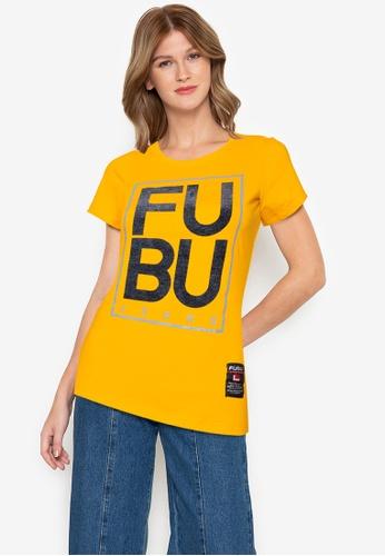 Fubu Queens orange Round Neck Drop Needle Tee 85A77AA1558755GS_1