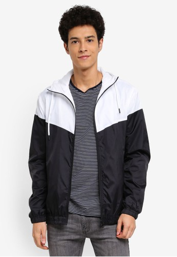 Factorie black and multi Cutback Windbreaker EA693AA4839934GS_1